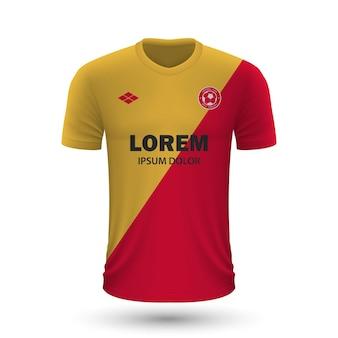 Realistyczna koszulka piłkarska galatasaray 2022, szablon koszulki dla foo