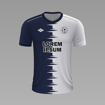 Realistyczna koszulka piłkarska pachuca, szablon jersey na strój piłkarski
