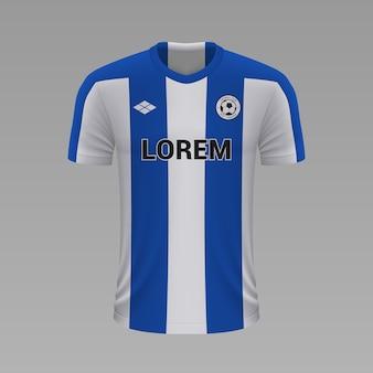 Realistyczna koszulka piłkarska porto, szablon jersey na strój piłkarski