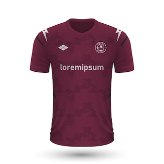 Realistyczna koszulka piłkarska salernitana 2022, szablon koszulki dla foo