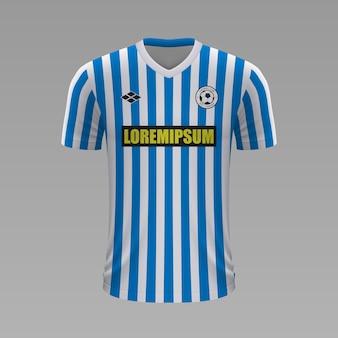 Realistyczna koszulka piłkarska spal, szablon jersey na strój piłkarski