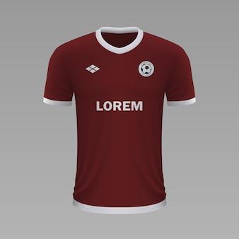 Realistyczna koszulka piłkarska torino, szablon jersey na strój piłkarski