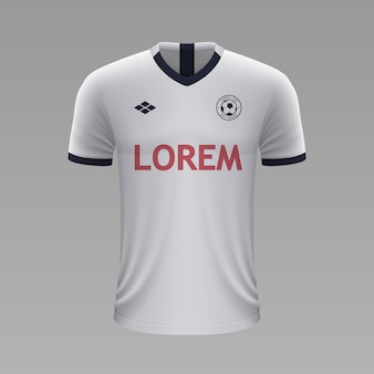 Realistyczna koszulka piłkarska tottenham, szablon jersey na strój piłkarski.