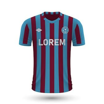 Realistyczna koszulka piłkarska trabzonspor 2022, szablon koszulki dla foo