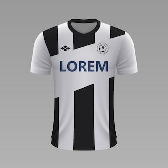 Realistyczna koszulka piłkarska udinese, szablon koszulki na strój piłkarski