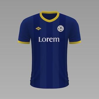 Realistyczna koszulka piłkarska verona, szablon jersey na strój piłkarski