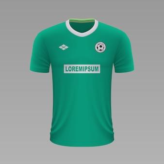 Realistyczna koszulka piłkarska werder, szablon jersey na strój piłkarski