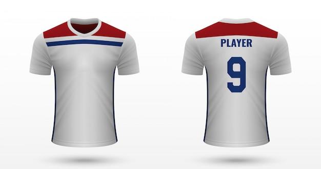 Realistyczna koszulka piłkarska