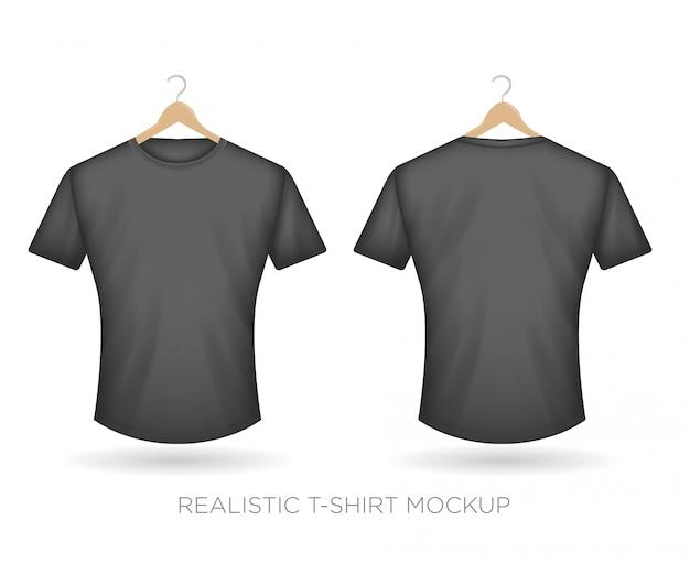 Realistyczna koszulka szara