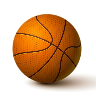Realistyczna koszykówka ikona piłki