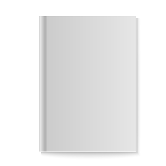 Realistyczna książka, dziennik lub makieta czasopisma z arkuszem