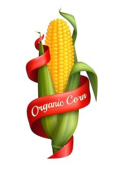 Realistyczna kukurydza ze wstążką