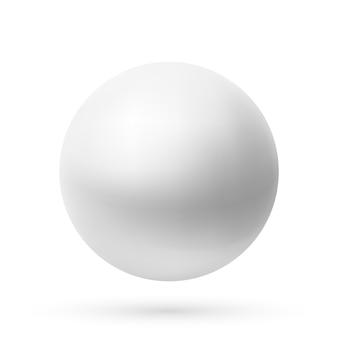 Realistyczna kula na białym tle