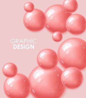 Realistyczna kula, różowa piłka, abstrakt
