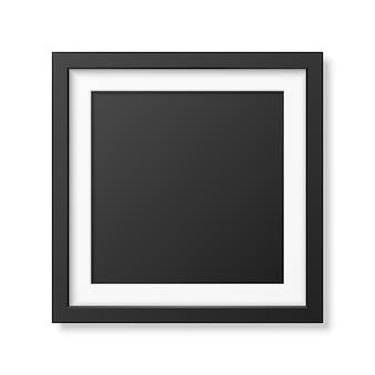 Realistyczna kwadratowa czarna ramka