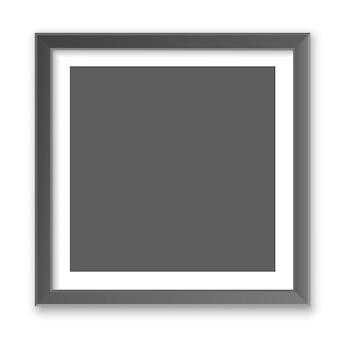 Realistyczna kwadratowa pusta ramka na zdjęcia. makieta pustej ramki na zdjęcia