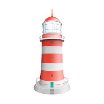 Realistyczna latarnia morska