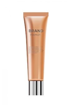 Realistyczna luksusowa kosmetyczna butelka creme