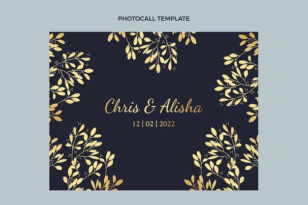Realistyczna, luksusowa, złota fotorozmowa ślubna