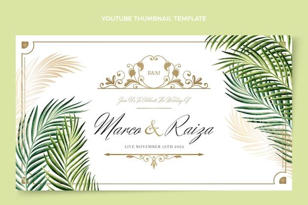 Realistyczna, luksusowa, złota miniatura ślubu youtube