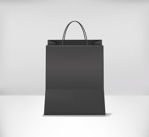 Realistyczna makieta torby na zakupy. przedni widok