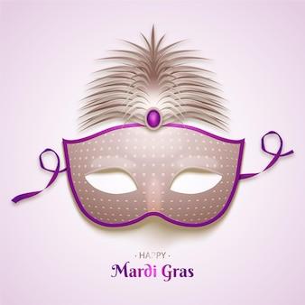 Realistyczna maska mardi gras