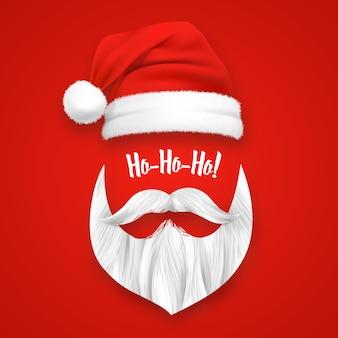 Realistyczna maska świąteczna świętego mikołaja