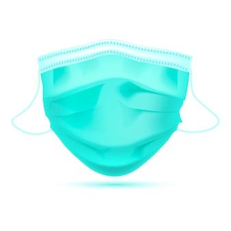 Realistyczna medyczna maska ochronna przód