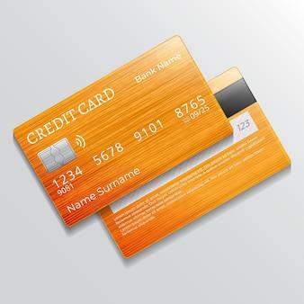 Realistyczna monochromatyczna karta kredytowa
