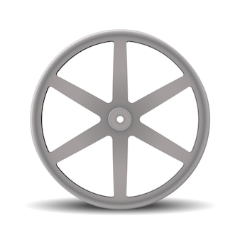 Realistyczna obręcz aluminiowej felgi samochodowej. aluminiowe koła na białym tle