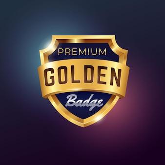 Realistyczna odznaka wektor złoty
