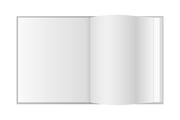 Realistyczna otwarta książka z miejscem na tekst