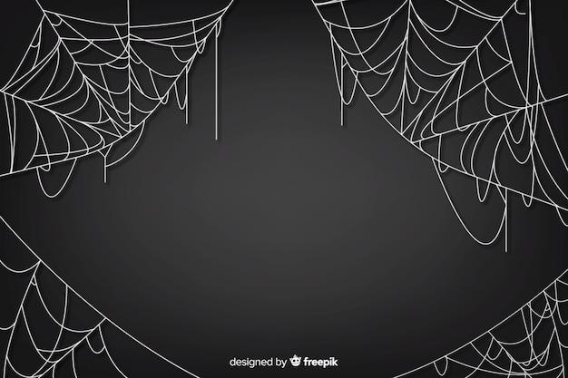Realistyczna pajęczyna z gradientem