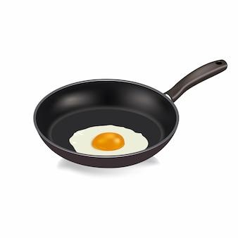 Realistyczna patelnia z jajkiem