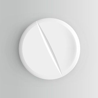 Realistyczna pigułka. ilustracja na białym tle