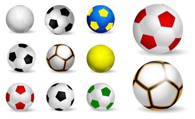Realistyczna piłka nożna dla dzieci na białym tle