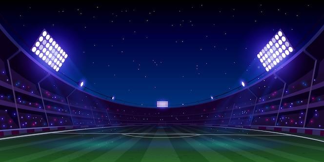 Realistyczna piłka nożna stadion piłkarski ilustracja