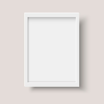 Realistyczna pionowa pusta ramka na zdjęcia
