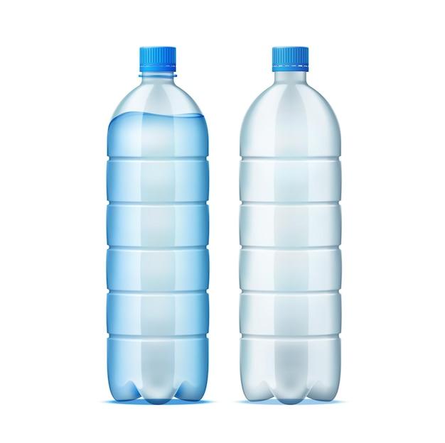 Realistyczna plastikowa butelka do projektowania dostaw wody
