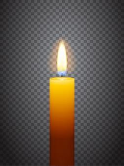 Realistyczna płonąca świeca
