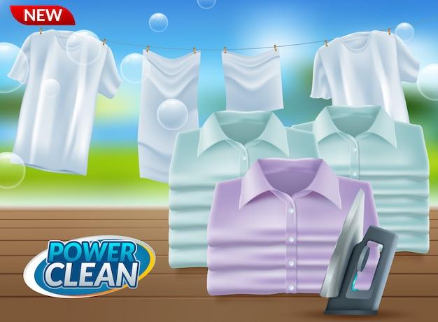 Realistyczna promocja proszku do prania