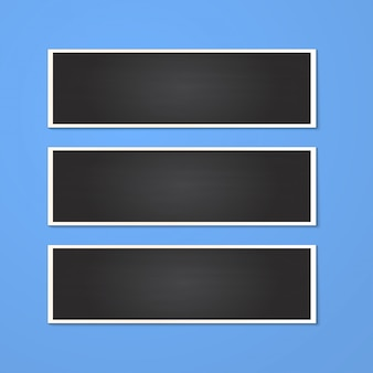 Realistyczna prostokątna ramka na zdjęcia na białym tle