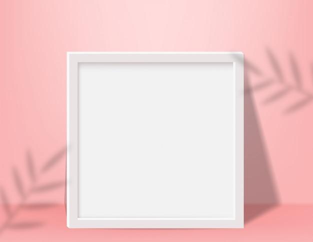 Realistyczna pusta ramka na zdjęcia do makiety