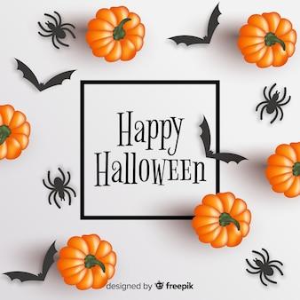 Realistyczna rama happy halloween