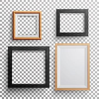 Realistyczna ramka do zdjęć kwadratowych