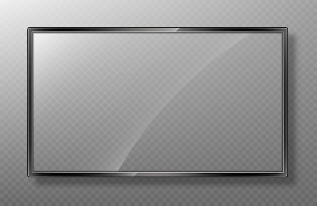 Realistyczna ramka makiety ekranu telewizora.