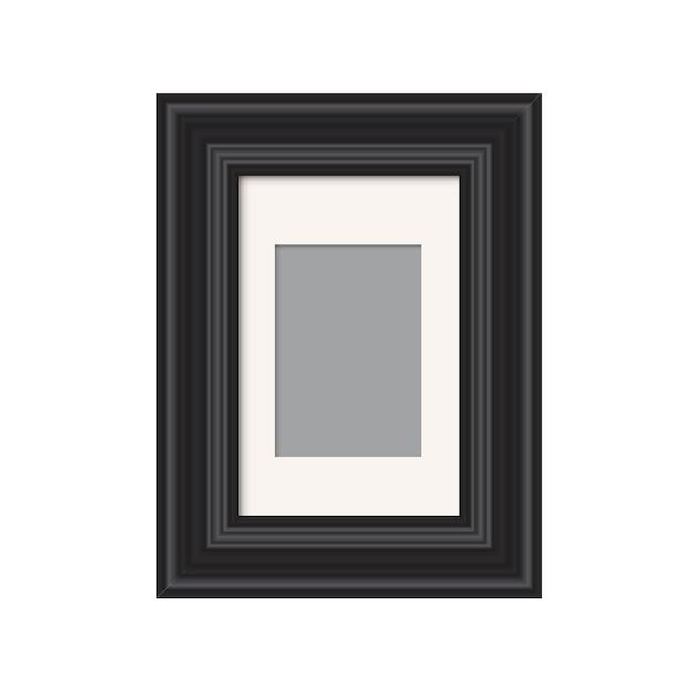 Realistyczna Ramka Na Zdjęcia Na Białym Tle Wektor Szablon Dla Obrazu Pusta Biała Ramka Na Zdjęcia Makieta Premium Wektorów