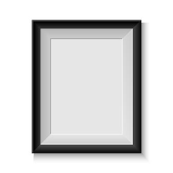 Realistyczna ramka na zdjęcia na białym tle