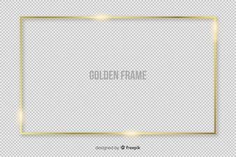 Realistyczna ramka złoty prostokąt