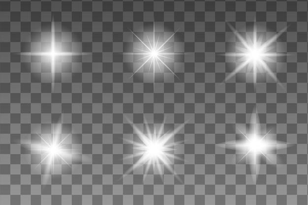 Realistyczna, realistyczna gwiazda blasku do dekoracji. streszczenie tęcza. efekt eksplozji. błysk, blask, flara, ilustracja flash. jasne słońce.